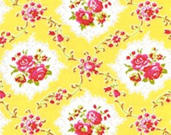 Jennifer Paganelli Kayla Dance With Me Sis Boom Fabric, Yellow. JP26. Half Yard Cotton for Free Spirit Fabrics
