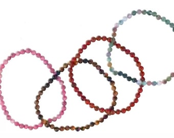 Energy Beads - Healing Bracelets  - 4mm Stretch Bracelets - Energy Healing - Chakra Clearing