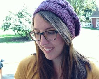 Women's Purple Slouchy Hat