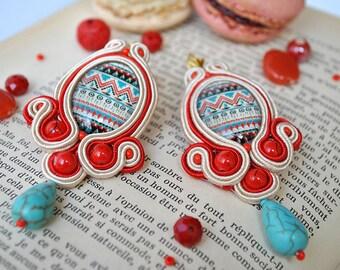Handmade Ethnic Soutache Earrings