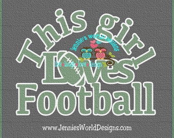 This girl loves football - SVG/DXF/PNG - Cut - studio - Cricut, Studio, Printable File, heart