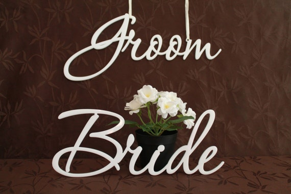 Bride and Groom Signs Wedding chair signs Mr & Mrs Chair Sign for Wedding Hanging Laser cut Sign Wedding decorations Laser cut acrylic names