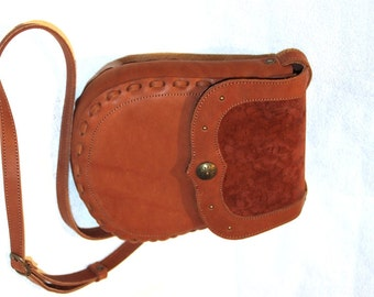 Tan Leather Cross Body Bag, Everyday Leather Purse, Leather Shoulder Bag