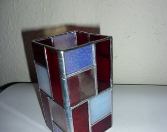 Stained glass box, stained glass pen holder