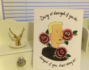 King of the Hill Boomhauer Print