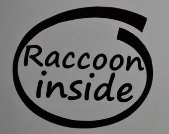 Raccoon Inside Decals