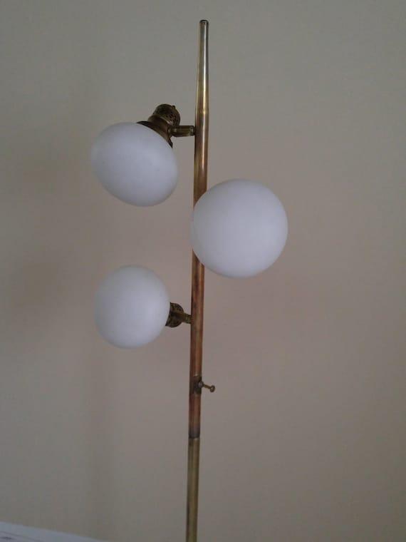 Mid century modern sputnik floor lamp art deco orb pole 1960s for Art deco floor lamp canada