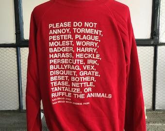 1980s San Diego Zoo Sweatshirt