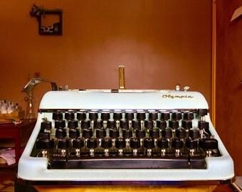 SOLD*Rare Blue Olypia SM4 Typewriter