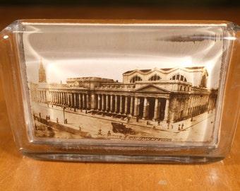 Souvenir Paperweight, Pennsylvania R.R. Station N.Y. City, Mirror! Near Perfect Condition...