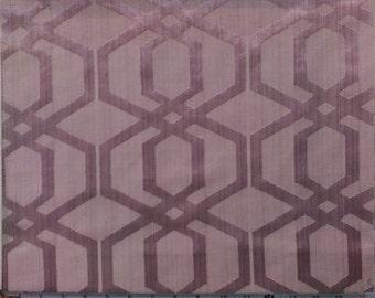 Geometric Pattern Fabric in Lilac Purple Color