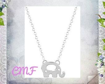 Elephant Necklace Elephant Necklace 925 Sterling Silver Necklace Elephant Pendant