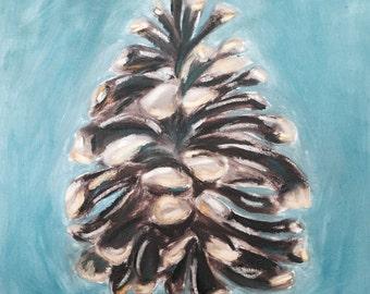 Orginal Abstract Pinecone Painting