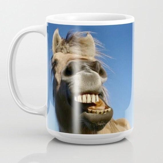 Horse mug fun mugs equestrian gifts animal by for Animal face mugs