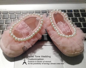 Baby Toddler Shoes, Flower Girl Shoes, First Communion / One year Old Birthday Present