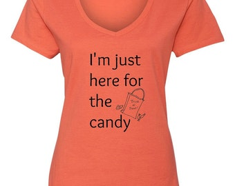 I'm Just Here For The Candy, Women's Halloween T-Shirt