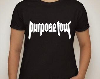 "justin bieber ""Purpose Tour"" t-shirt"