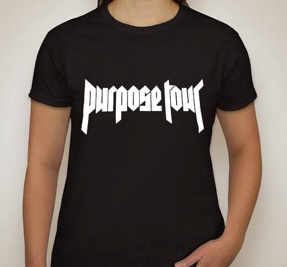 justin bieber purpose tour t shirt by shoptrainwreck on etsy. Black Bedroom Furniture Sets. Home Design Ideas