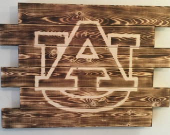 Auburn War Eagles wood sign