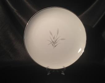 "Mt. Hira 12 1/4"" Fine China Japan Silver Wheat  -  Serving Platter,Silver Wheat serving dish,Mt.Hira Silver Wheat Serving Dish"