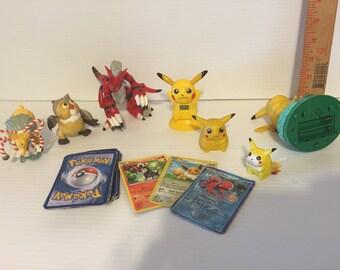 Pokémon action figures.