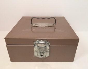 Vintage Skotch Porta file lock box with keys