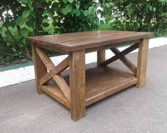 "Wood coffee table,rustic table ,living room tables,reclaimed coffee table,dark wood coffee table,low coffee table,pallet table ""Augustine"""