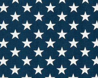 ON SALE!! Premier Prints - Stars Fabric - Premier Navy - Sold by the 1/2 Yard