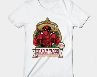 Deadly Tacos - women's t-shirt - Deadpool t-shirt - S, M, L, XL, XXL, 3XL
