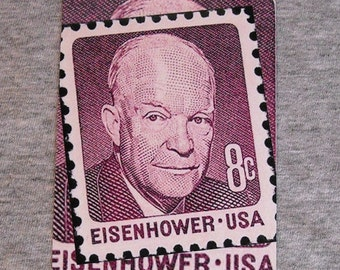Magnet DWIGHT D EISENHOWER postage stamp Ike President of the United States of America pusa USA refrigerator magnets metal