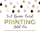 Printing Add-On for Any 5x7 Sized Game Card in the Shower That Bride Shop