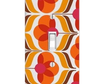 Home Decor Light Switch Cover-Retro Wallpaper Print-Housewarming-Lighting-Wall Decor-Kitchen Decor-Bathroom Decor-Double Light Switch-Triple