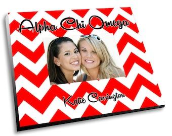 Alpha Chi Omega Chevron Picture Frame