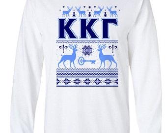 Kappa Kappa Gamma Ugly Sweater Long Sleeve Tee