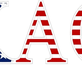 kappa alpha theta american flag greek letter sticker 25