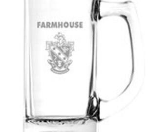 FARMHOUSE Engraved Glass Mug
