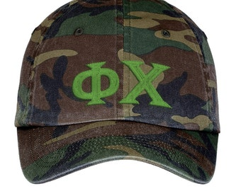 Phi Chi Lettered Camouflage Hat