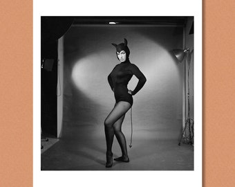 """BETTIE PAGE - """"Catsuit"""" - Florida, 1954 - Pin Up - Giclée/Photo print"""