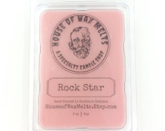 Rock Star Scented Soy Wax Melts - 3 oz. (Wax Tarts, Wax Cubes, Wickless Candle)