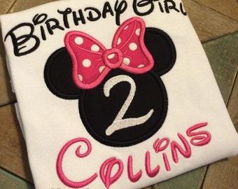 1 Birthday Mickey and Minnie inspired shirts