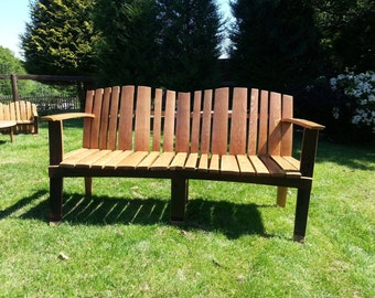 "Large Solid Oak ""Linski"" Garden Bench"
