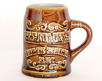 Clearman's North Woods Inn Souvenir Beer Stein by Hall China