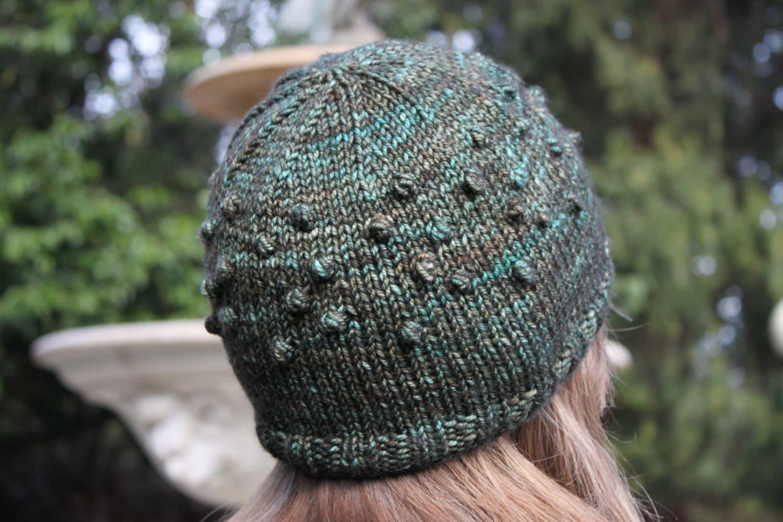 Bobble Hat Double Knitting Pattern : Knitting Pattern Bobble Hat Knit Knitted Adult Size
