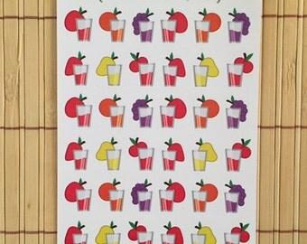 S038 - 36 Fruit Juice Planner Stickers