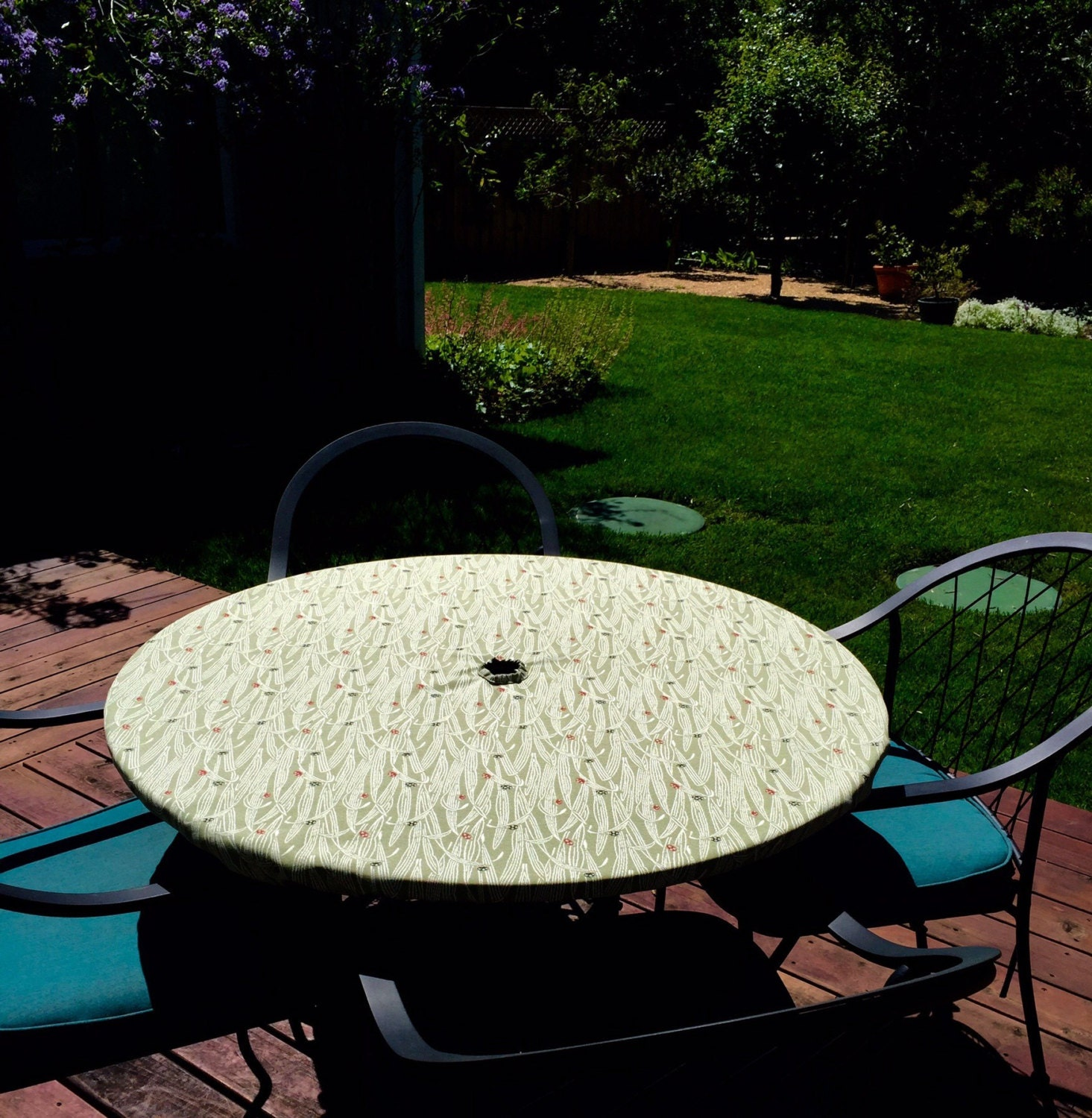 Fitted tablecloth table cover outdoor patio tablecloth