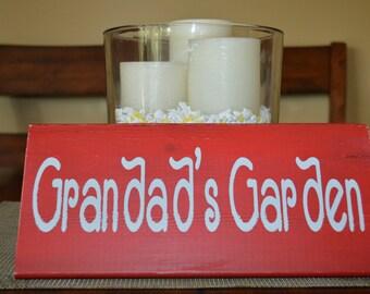 Wood Sign - Grandad's Garden