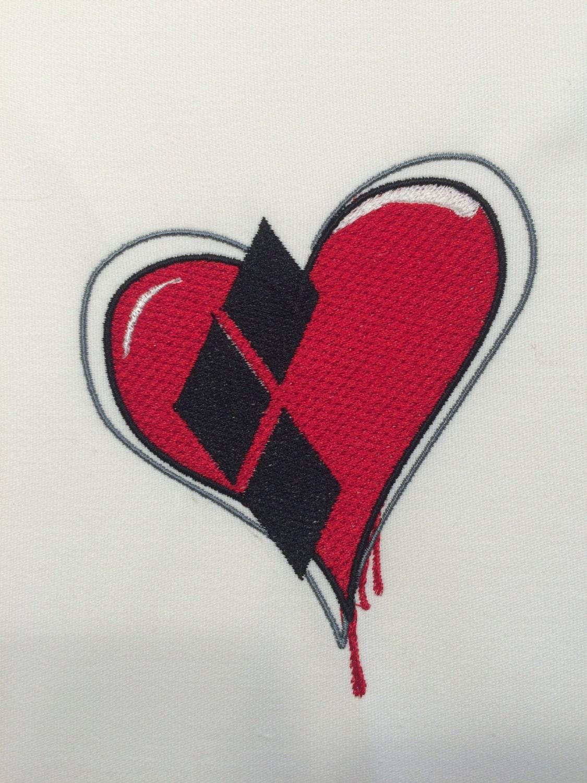 Harley heart machine embroidery design
