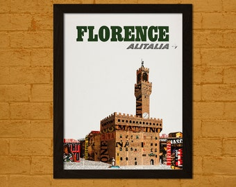 Italy Travel Print - Florence Travel Poster Wall Decor Wall Art Home Decor Retro Travel Italian Print Florence Poster Italy