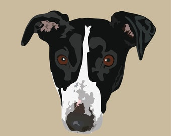 Custom Pet Portrait, Digital Pet Portrait, Digital Pet Illustration
