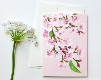 folded card with envelope / blossoms
